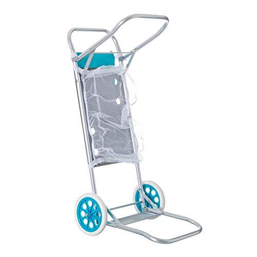 🥇 LOLAhome Carro portasillas Plegable Azul para Camping y Playa Nuevo y Mejorado