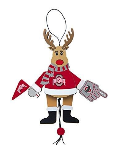 NCAA Ohio State Buckeyes Wooden Cheer Ornament