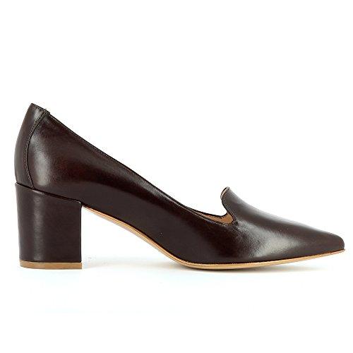 oscuro Mujer Cerrado Evita Romina Shoes marrón xvqUwnw1X