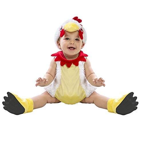 Boo Babies Halloween Costume Chicken Nugget Sz 0-9 Months 4 Pieces White Red for $<!--$16.95-->