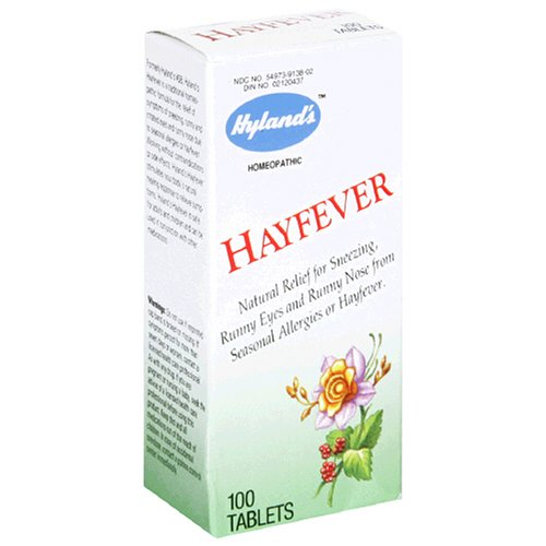 Hyland's HayFever Tablets, Natural Relief of Seasonal Allergies or Hayfever, 100 Count Each, 3 Pack -