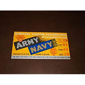 1938 ARMY NAVY COLLEGE FOOTBALL TICKET STUB NEAR MINT