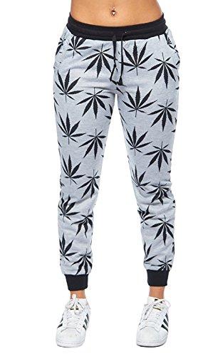 Calilogo-Womens-Weed-Marijuana-Pot-Leaf-Casual-Jogging-Pants-Jacket-Includes-Free-Gift