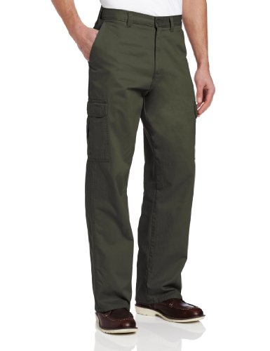 Dickies Men's Loose Fit Cargo Work Pant, Olive Green, 30x30 ()