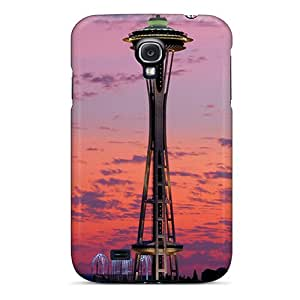 Flexible Tpu Back Case Cover For Galaxy S4 - Space Needle