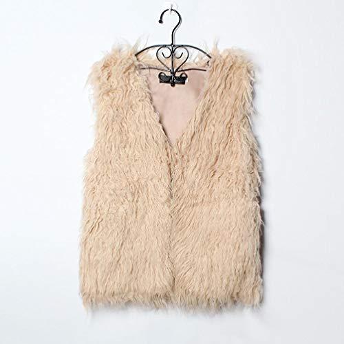 Pandaie Jacket,Women Faux Fur Ladies Sleeveless Vest Waistcoat Jacket Gilet Shrug Coat Outwear by Pandaie (Image #3)