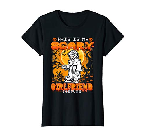 Womens This Is My Scary Girlfriend Funny Family Halloween Costume T-Shirt -