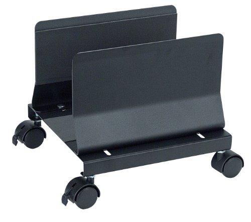 Adjustable Cpu Holder (Aidata CS001EB Metal Mobile Desktop CPU Holder Stand, Black, Adjustable from 5.25