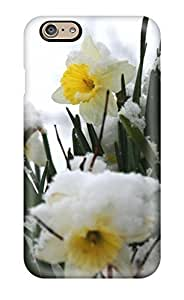 Iphone Cover Case - Daffodils In The Snow White Nature Flower Protective Case Compatibel With Iphone 6