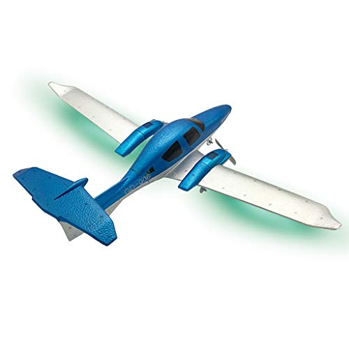 RC Airplane with Light Bar, GD-006 Transport EPP DIY Aircraft 2 Channels 2.4Ghz Remote Control with 3-Axis Gyro for Beginner, A Easy to Fly Glider Toys (Rc Trainer Arf)