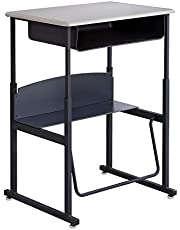 Safco Products 1202BE Alphabetter Stand-Up Desk with Swinging Footrest Bar