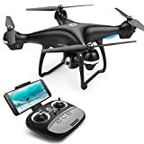Drone With Camera - Holy Stone GPS RC Drone with FPV Camera Live Video and Auto Return Home for Adults Beginners Quadcopter with 15 Mins Flight Time, Adjustable Wide-Angle HD 720P WiFi Camera, Follow Me, Altitude Hold