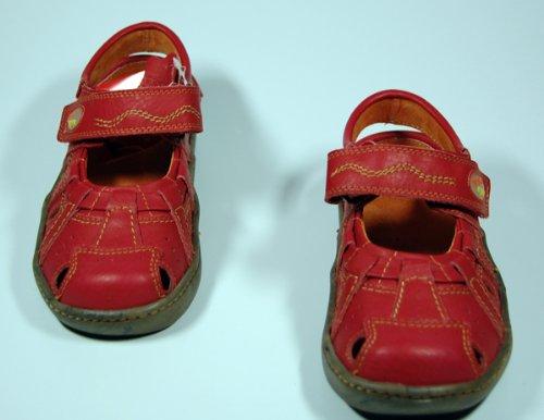 Rot Comfort Outdoor Sandaletten Damen Schuhe Rot Sandalen Schwarz TMA Gelb Weiss Grau Leder ZSvqBv1X