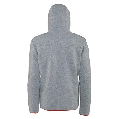 Jeep Man Technische Kapuzen Sweatshirt Full Zip J4W, grau (hellgrau mel/Dark Denim), M
