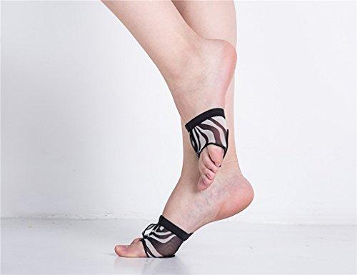 Staychicfashion Donna Lirica Balletto Danza Piede Perizoma Zampe Zampe Mezza Sole Zampe Anteriori Zebra Zeppe