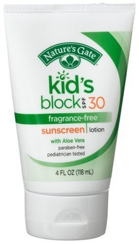 The Regatta Group DBA Beauty Depot Nature's Gate Kid's Block Sunscreen Lotion, Fragrance-Free, SPF 30, 4-Ounce Tubes (Pack of - Group Tube Free