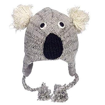 UNISEX Fun Crazy Cat Handmade Winter Woollen Animal Hat Fleece Lining One Size