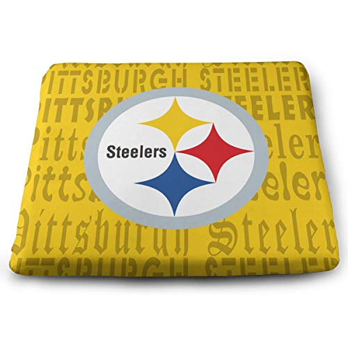 (Sorcerer Custom Colorful Chair Pads Pittsburgh Steelers American Football Team Soft Home Office Decoration Square Buttocks Seat Cushion Chair Cushion Pads 13.7