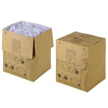 80 l de capacidad Pack de 50 bolsas reciclables expandibles para destructora de papel Rexel Auto+500X//M