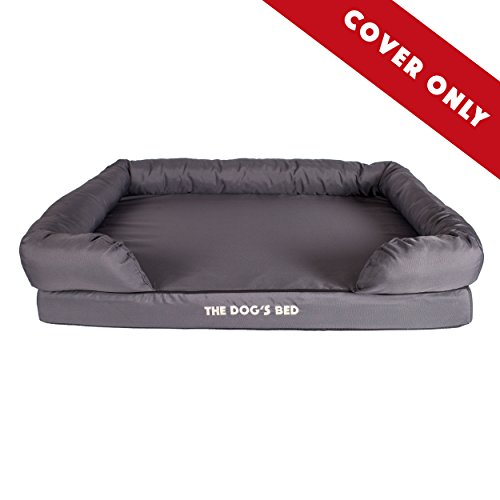 Replacement Cover & Waterproof Inner (Covers ONLY - NO Bed) for The Dogs Bed Orthopedic Memory Foam Dog Bed. Washable Quality Oxford Fabric, Extra Large (Grey with Black Piping)