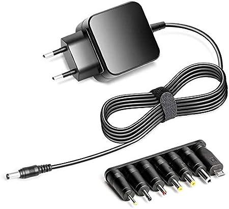 KFD Cargador 5.25V 3A Adaptador Universal Corriente para Jumper EZpad 6/6s Pro/7/7s 2 in1 Ordenador portátil, MEDION AKOYA E2228T, CHUWI UBook 2-in-1-Tablet, Sony, Raspberry Pi 2 B+ B con 7 Conector