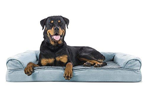 Furhaven Pet Jumbo Plush & Suede Memory Foam Sofa Pet Bed, Deep - Bed Orthopedic Sofa Bolstered
