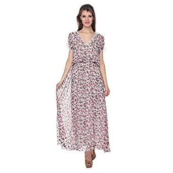 Cocum Cahn Printed Maxi Dress For Women - 12 Uk, Multi Color
