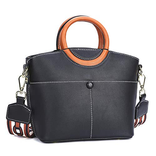 Handbags Womens Wholesale (Clocolor Womens Handbags Elegant Leather Top Handle Satchel Ladies Purses Shoulder Bags)