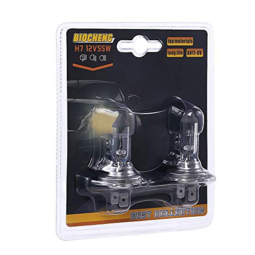 H7 Halogen Headlight Bulb 12V 55W High Performance Replacement Bulb Long Life 16 Months Warranty 2 Pack