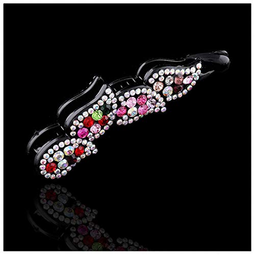 Pudwy Ladies Bow Hair Claw Clip Banana Hair Clip Flower Multicolor Crystal Women Hairbands Women Hairpin Hair Accsessories B3