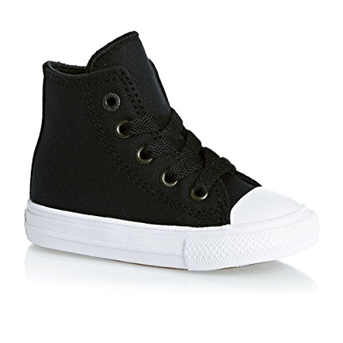 Converse Chuck Taylor All Star II Hi Black Textile Baby Trainers Black