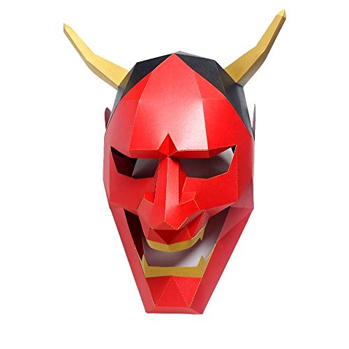 Dress Up Paper Mask Red Devil Costume Cosplay