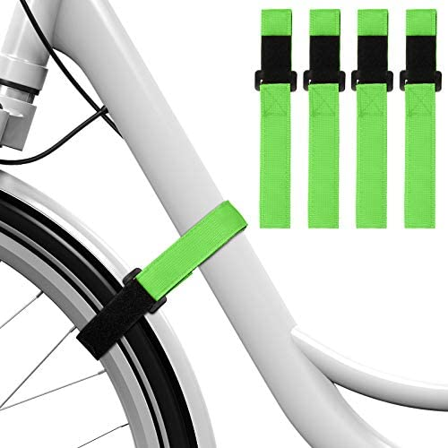 4 Pieces Adjustable Bike Rack Strap Replacement Bicycle Wheel Stabilizer Straps with Gel Grip for Bike Rack Accessories