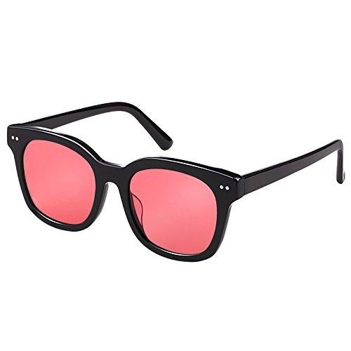 De decoración Nocturna transparent Gafas Llztyj Goggles luz gafas Red Mujer Sol Sol gafas regalo Night Visión vision Polarizadas gafas viento Amarillas coche cumpleaños Transparentes Cuadradas Negro 8a5S5wq