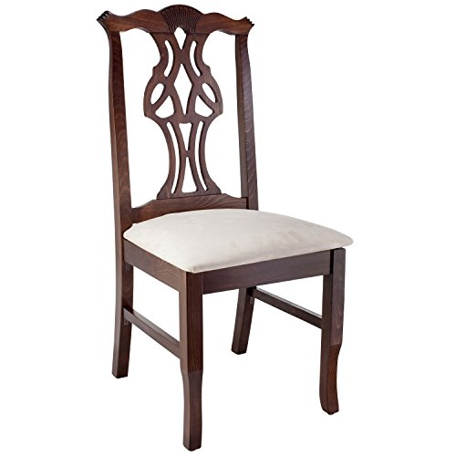 Beechwood Mountain Fully Assembled Chippendale Side Dining Chair in Walnut Finish (Bar Chippendale)
