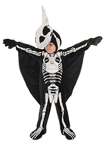 Home Made Dinosaur Costumes (Underwraps Big Boy's Underwraps Kids Fossil Dinosaur Costume, PTERODACTYL, Med Childrens Costume, black/white, Medium)