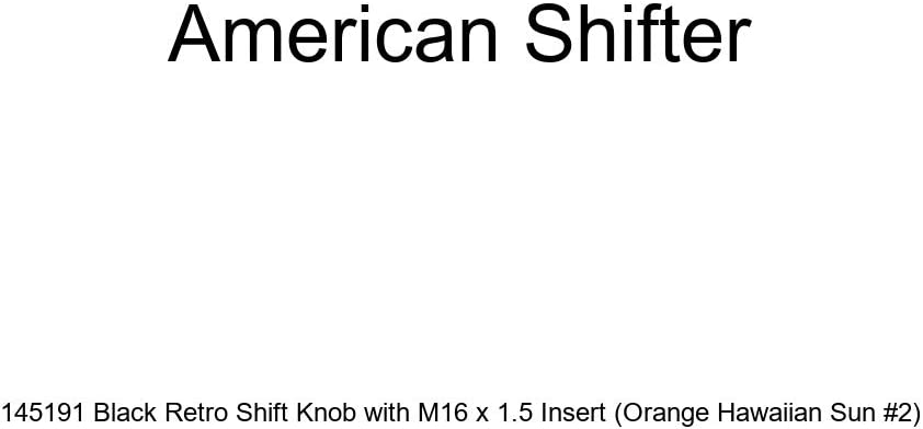 American Shifter 145191 Black Retro Shift Knob with M16 x 1.5 Insert Orange Hawaiian Sun #2