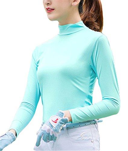 レディース UVカット 接触冷感 長袖 ハイネック tシャツ 紫外線対策 速乾 吸汗 ストレッチ 通気 日焼け止め ゴルフ テニス トラベル アウトドア スポーツ