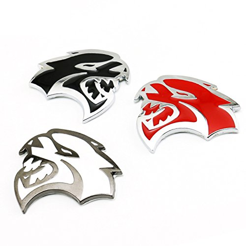 2PCS Metal SRT8 Emblem Badge Sticker Decal FOR Dodge Challenger Charger Ram SRT