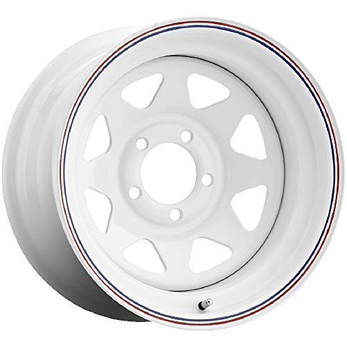 "Pacer 310W WHITE SPOKE White Wheel (15x7""/5x4.5"", -06mm Offset)"