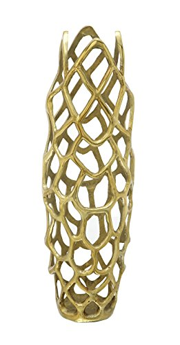 Deco 79 Aluminium Decorative Gld Vase 8