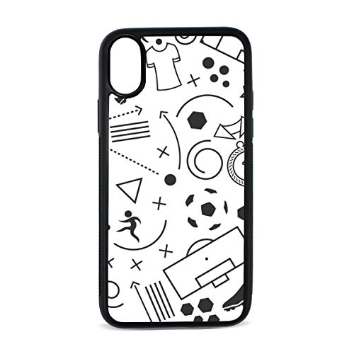 iPhone Fencing Player Cute Childlike Creative Movement Digital Print TPU Pc Pearl Plate Cover Phone Hard Case Cell Phone Accessories Compatible with Protective Apple Iphonex/xs Case 5.8 Inch (Digital Creative Player Case)