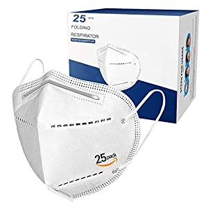 Best Epic Trends 41SELpZ9y%2BL._SS300_ Face Masks 5 Layers Protective Masks with Comfortable EarLoop Pack of 25