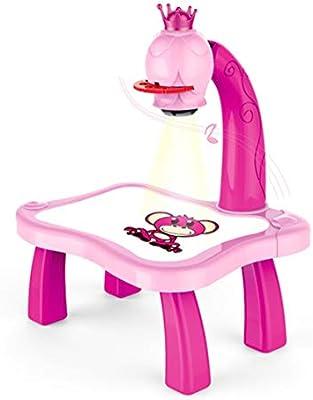 FancyswES8eety Escritorio de Aprendizaje para niños con proyector ...