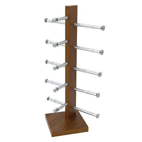 Display Rack, Petforu Wooden Sunglasses Holder Eyeglass Collections Display Stand (Wood Color) by World Pride (Image #4)