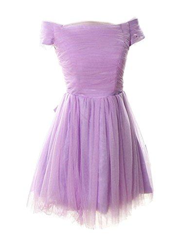 Violett Linie Kleid Drasawee A Damen x7n6f46