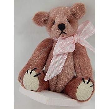 "World of Miniature Bears 2.5/"" Plush Bear Rose #302 Collectible Miniature Bear"
