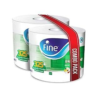 FINE Mega Roll Hand Towel 325m - Pack of 2