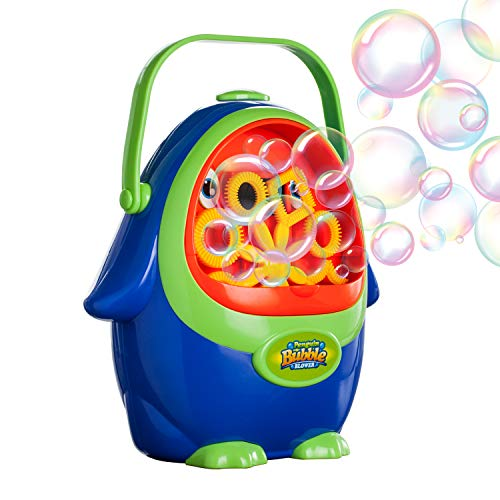 Vtopmart Automatic Bubble Blower Machine with Bubble Solution for Kids Toddlers, Penguin Bubble Maker for Party, Wedding, Outdoor Indoor Games, Battery Operated (Not Included) by Vtopmart