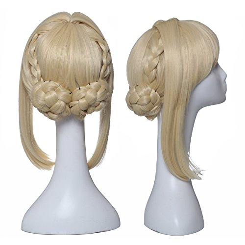 ColorGround Long Blonde Prestyled Cosplay Wig with Braids